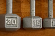 Free Selective Focus Dumbells Stock Images - 2714474