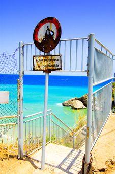 Italian Beach Sign Royalty Free Stock Image