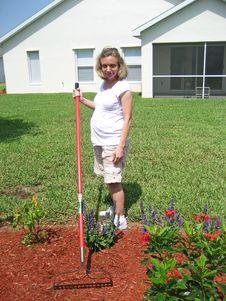 Free Expectant Mother Gardening 6 Stock Photo - 2714970