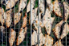 Free Fish Grill Royalty Free Stock Photo - 2715435