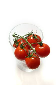 Free Cherry Tomatoes In A Glass Stock Photography - 2718472