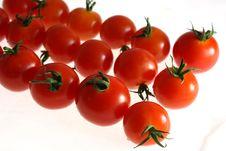 Free Cherry Tomato On White Royalty Free Stock Photos - 2718498