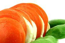 Free Tomato Feta And Basil Stock Photography - 2718502