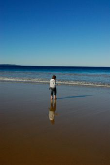 Free Girl On Beach Royalty Free Stock Photography - 2719017