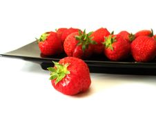 Strawberry In The Dish Stock Photography