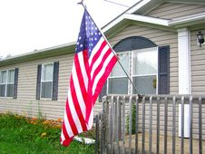Free American Flag On Front Porch 2 Stock Photos - 2719383