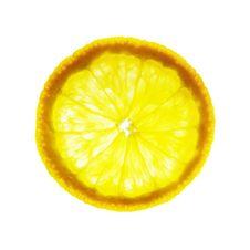 Free Orange Slice On White Stock Photography - 2719862