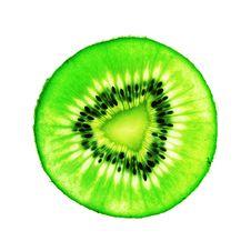 Free Kiwi Fruit Slice On White Royalty Free Stock Photography - 2719937