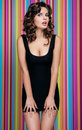 Free Beautiful Woman On The Colorful Background Royalty Free Stock Photo - 27107525