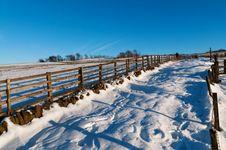 Free Snow Track Stock Image - 27103991