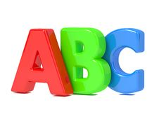 ABC Letters Isolated On White. Royalty Free Stock Images