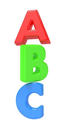 ABC Letters Isolated On White. Royalty Free Stock Photo