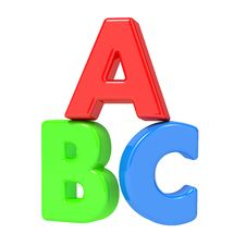 Free ABC Letters Isolated On White. Royalty Free Stock Photography - 27104627