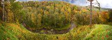 Panoramic Autumn View Royalty Free Stock Photo