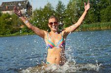 Summer And Splashes Stock Photos