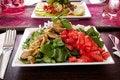 Free Arugula Cheese Salad Royalty Free Stock Images - 27112499