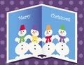 Free Christmas Card With Snowmen Royalty Free Stock Photos - 27118218