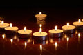 Free Candles On Dark Royalty Free Stock Image - 27119866