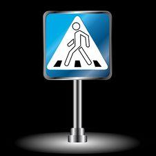 Free Сrosswalk Sign Stock Images - 27110224