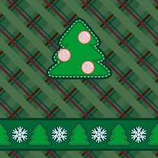 Free Scrapbook Styled Green Christmas Card Stock Image - 27112411