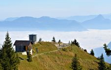 Free House Above The Clouds At Switzerland Europe Stock Image - 27114861