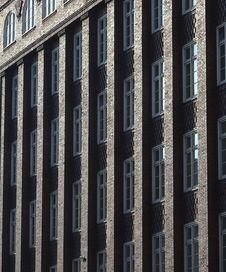 Sun-gilded Brick Columns Stock Photo