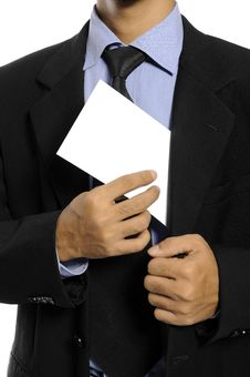 Man Hold Blank Envelope Royalty Free Stock Photo