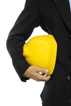 Free Architect Holding Helmet Royalty Free Stock Image - 27118626
