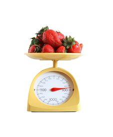 Free Strawberry Weighing Stock Image - 27119861