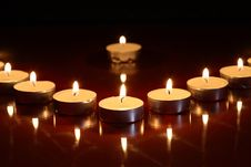 Candles On Dark Royalty Free Stock Image