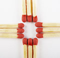 Free Close Up Of Matches, Arranged Three On Cross Royalty Free Stock Photography - 27122747