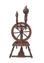 Free Small Antique Spinning Wheel Isolated. Stock Photo - 27127800