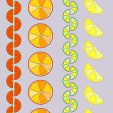 Free Rows Of Citrus Seamless Pattern Royalty Free Stock Photos - 27124108