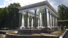 Free Lions Fountain, Peterhof Stock Images - 27124624