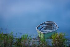 Boat On The Shore Stock Photo