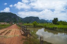 Bridges And Rivers Of Asia. Laos Stock Images