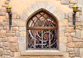Free Arched Window In Stone Wall Royalty Free Stock Photos - 27132238