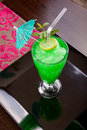 Free Green Drink With Umbrella Stock Photos - 27132353