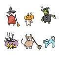Free Hand Draw Halloween Cartoon Stock Photos - 27136363