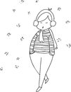 Free Cartoon Girl Hand Sketch Stock Photos - 27137633