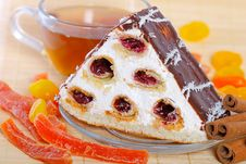 Free Piece Of A Pie With Cherries Stock Image - 27130131