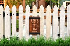 White Picket Fence Royalty Free Stock Photos