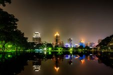 Free Bangkok City At Night View Royalty Free Stock Photos - 27133048