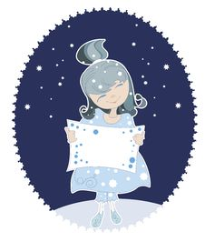 Free Snow Maiden In The Blue Dress Royalty Free Stock Photos - 27135358