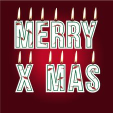 Free Merry Christmas Candles Stock Image - 27136131