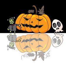 Free Cartoon Halloween Hand Draw Stock Image - 27136571