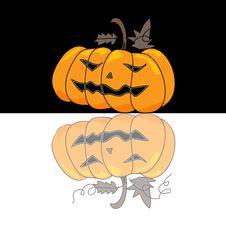 Free Cartoon Halloween Hand Draw Royalty Free Stock Photo - 27136575