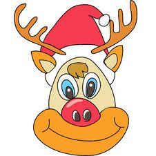 Free Reindeer Christmas Cartoon Stock Photos - 27137223