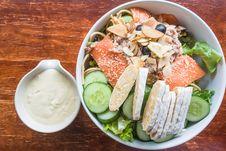 Free Salmon Tuna Fish Salad With Cream Sauce Stock Image - 27137281