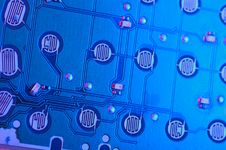 Blue Circuit Board Stock Image